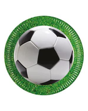 8 pratos Football Party (23 cm)