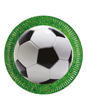 8 Football Party Plates (23 cm)