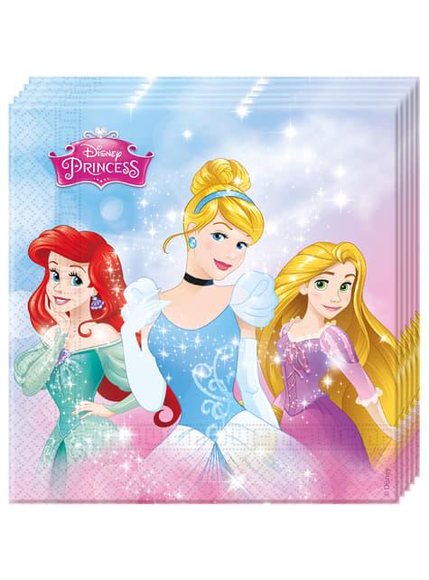 Zestaw 20 serwetek księżniczki Disney