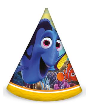 6 gorritos de cumpleaños buscando a Dory