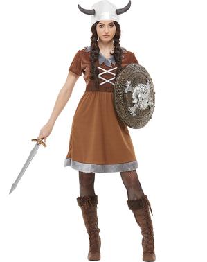 Maskeraddräkt Viking för henne stor storlek
