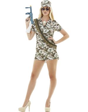 Grote maat Leger kostuum voor vrouw