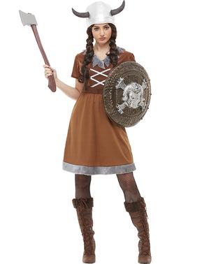 Moterų Vikingas kostiumas Plius dydis