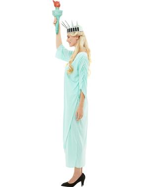 Frihedsgudinden plus size kostume