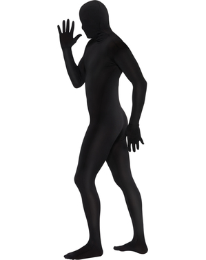 Блацк Друго коже костим плус величина