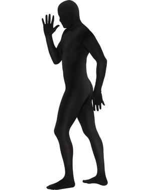 תחפושת עור שני צמוד בצבע שחור - במידות גדולות