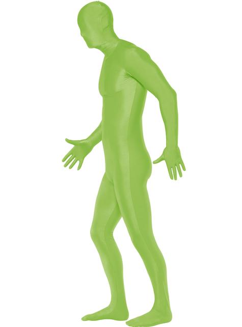Disfraz Segunda Piel verde talla grande