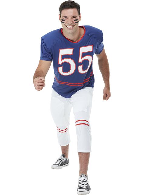 Football Kostüm Quarterback für Herren große Größe