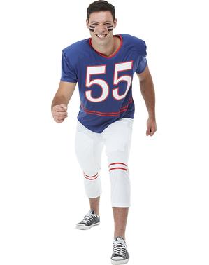 Amerikansk fotballspiller plus size kostyme