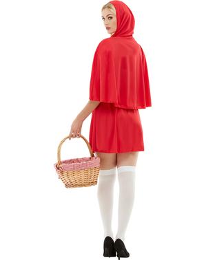 Raudonkepuraitė kostiumas suaugusiems plius dydis