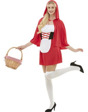 Grote maat Roodkapje kostuum voor vrouw