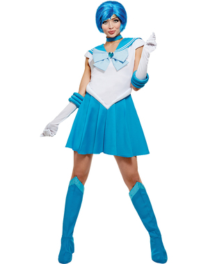 Kostým Sailor Mercur extra velký - Sailor Moon
