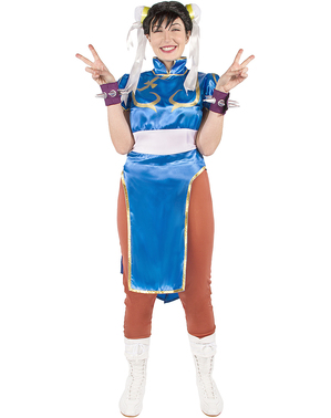 Grote maat Chun-Li kostuum - Street Fighter