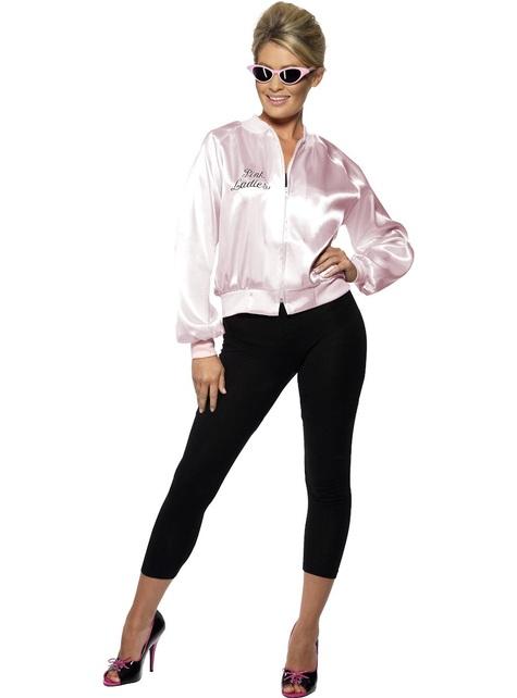 Kurtka Pink Ladies Grease dla kobiet duży rozmiar