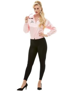 粉红女士夹克加上大小 - 润滑脂服装