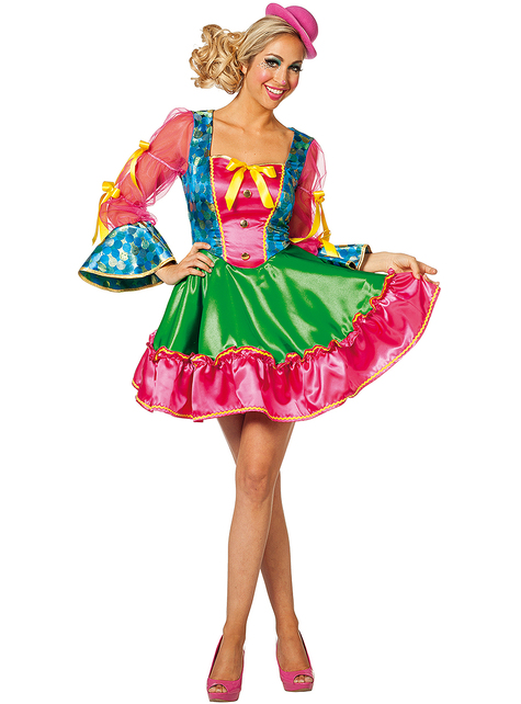 Pink Clown Costume for Women