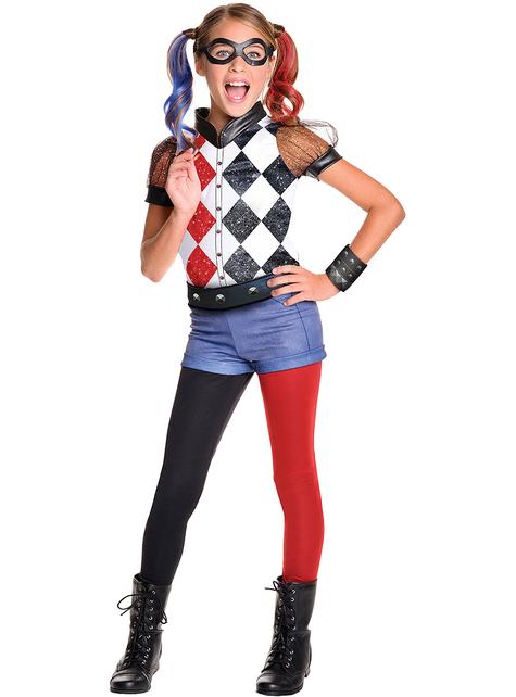 Kostium Harley Quinn classic deluxe dla dziewczynki