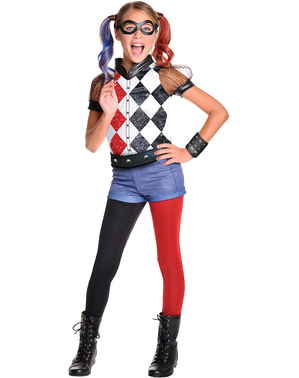 Disfraz de Harley Quinn deluxe para niña