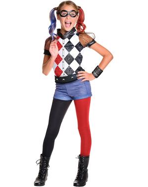 Tyttöjen perinteinen Deluxe Harley Quinn - asu