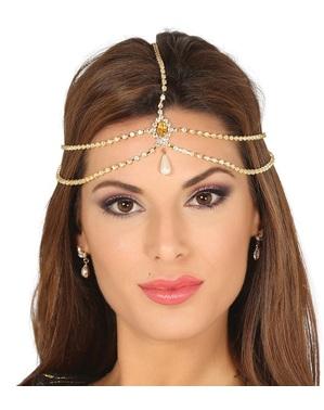 Tocado de bijuteria Bollywood para mulher
