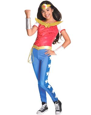 Maskeraddräkt Wonder Woman deluxe för barn