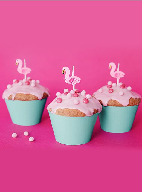 5 velas de Flamingo (3 cm) - Flamigo's Party