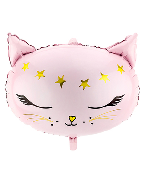 Ballon chat rose en alu (48 cm) - Meow Party