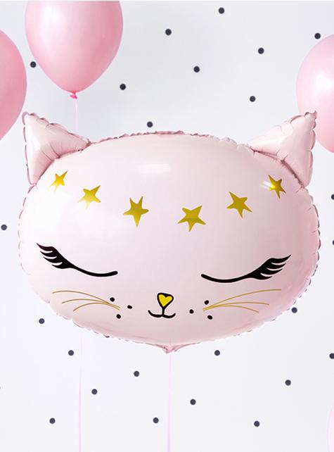 Ballon chat rose en alu (48 cm) - Meow Party