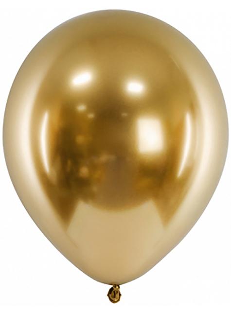 50 Globos dorados efecto perlado(30 cm)
