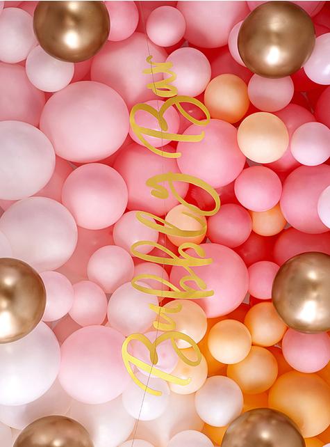 50 Balões dourados efeito pérola (30 cm)