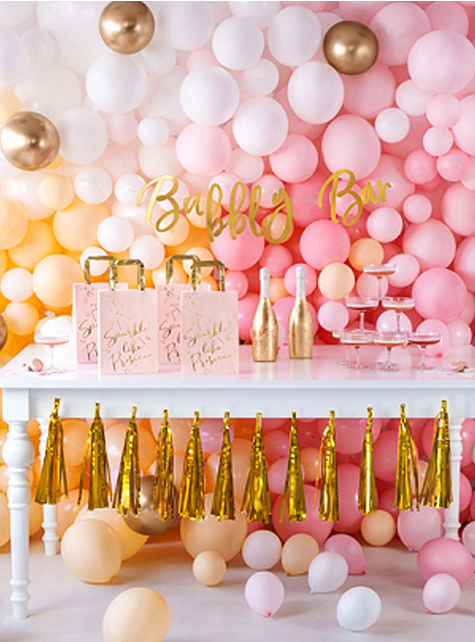 50 Balloons Gold Pearl Effect (30cm)