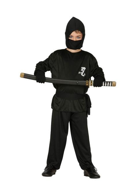 Svart ninjadräkt barn