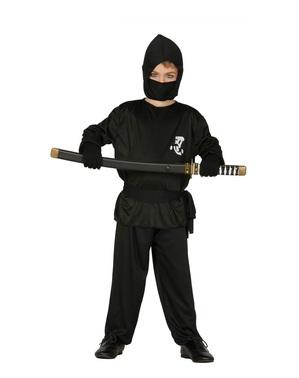 Svart Ninjakostyme til Barn