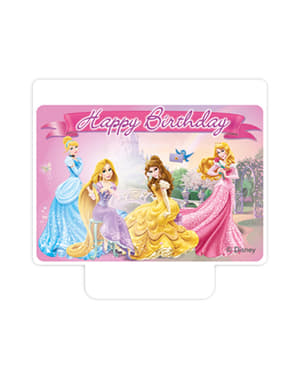 Princess & Animals Happy Birthday Candle