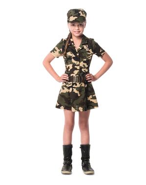 Disfraz de militar para niña