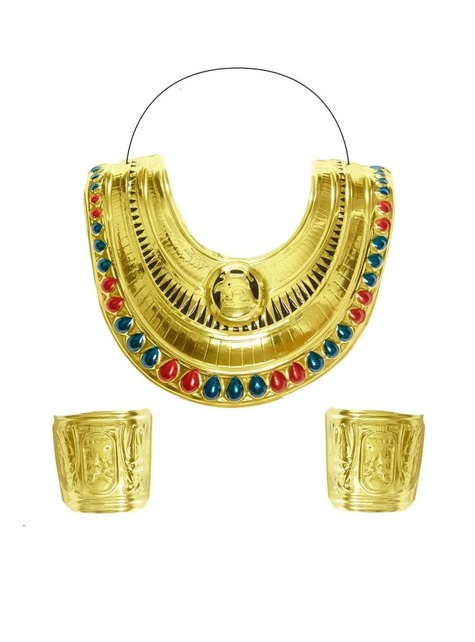 Egyptian collar and bracelets