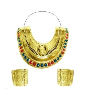 Gola e braceletes de egípcia