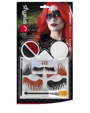Harlekin make-up sett