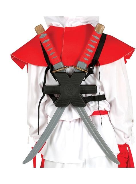 Set de 2 espadas samurái para la espalda