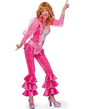 Maskeraddräkt Mamma Mia deluxe rosa dam
