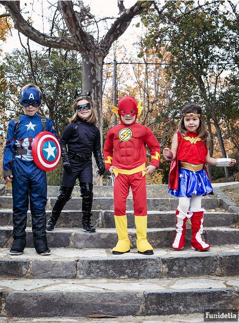Gespierd Flash kostuum voor jongens