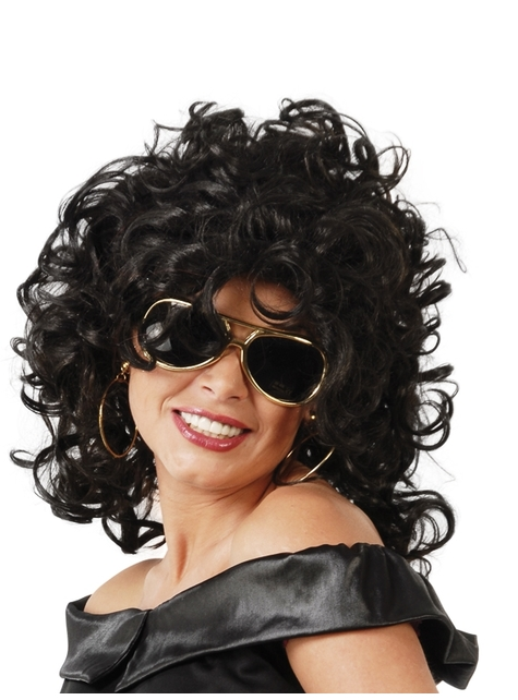 Modern Curly Black Wig