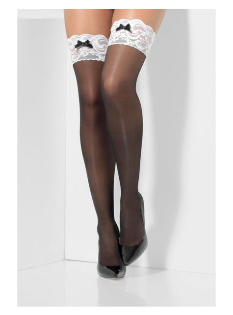 Black French maid stockings for women