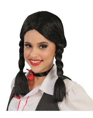 Parrucca con trecce nera