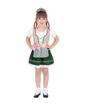 Costum de bavareză Oktoberfest pentru fată
