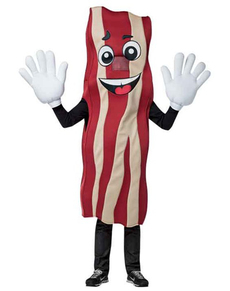 Disfraz de bacon crujiente para adulto