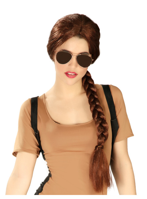 Brown Wig with Braids