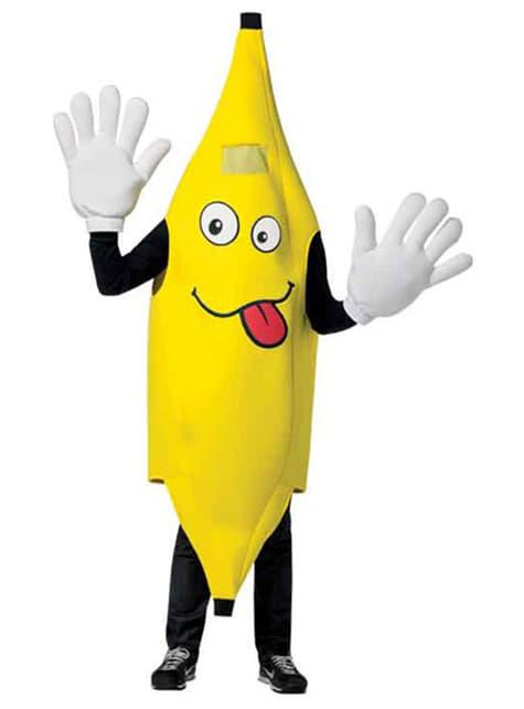 Fato de banana alegre para adulto