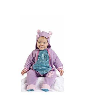 Disfraz de hipopótamo morado para bebé