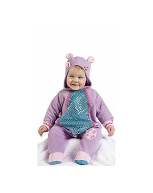 Purple hippopotamus costume for babies